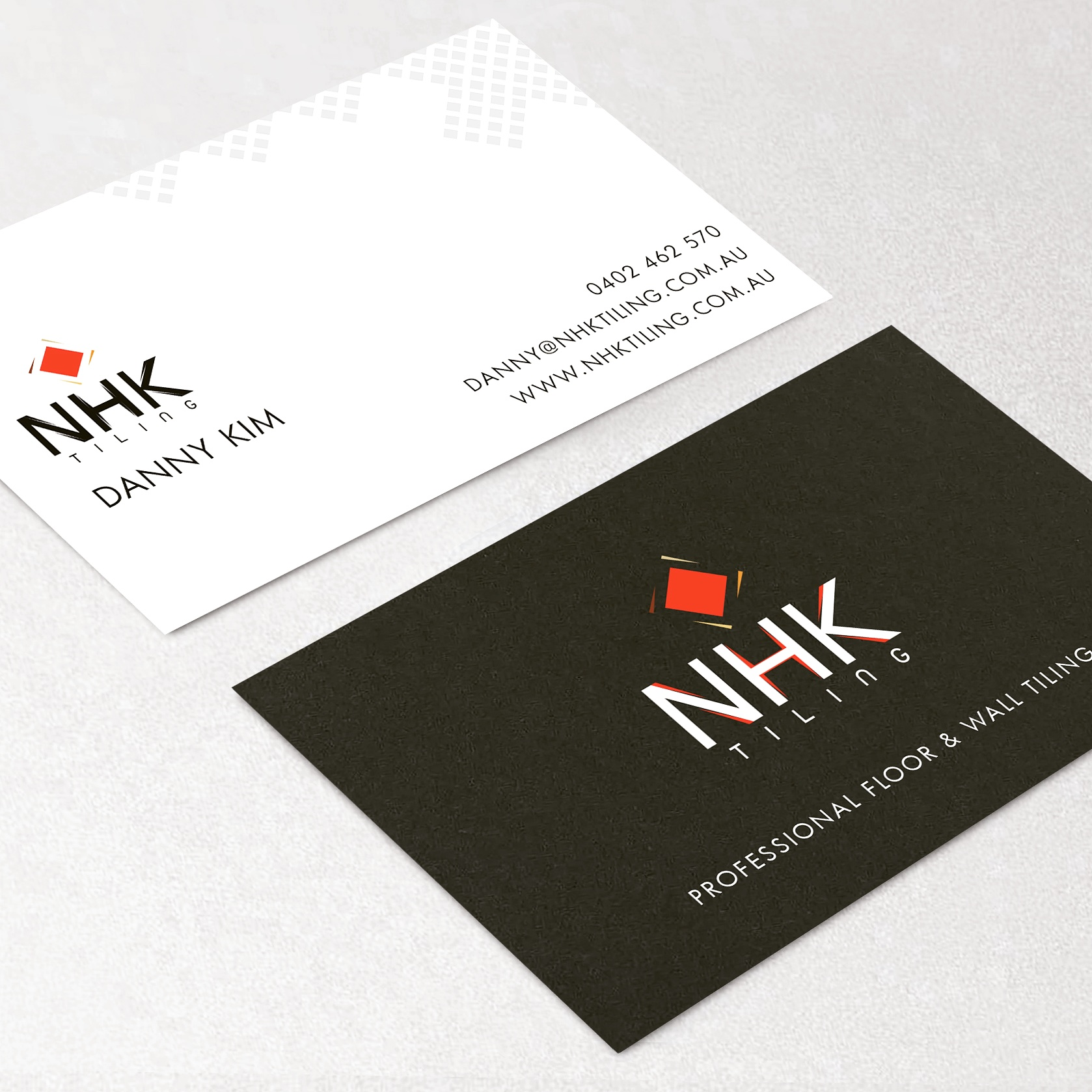 Starter package tradie signs websites nhk tiling business card reheart Image collections