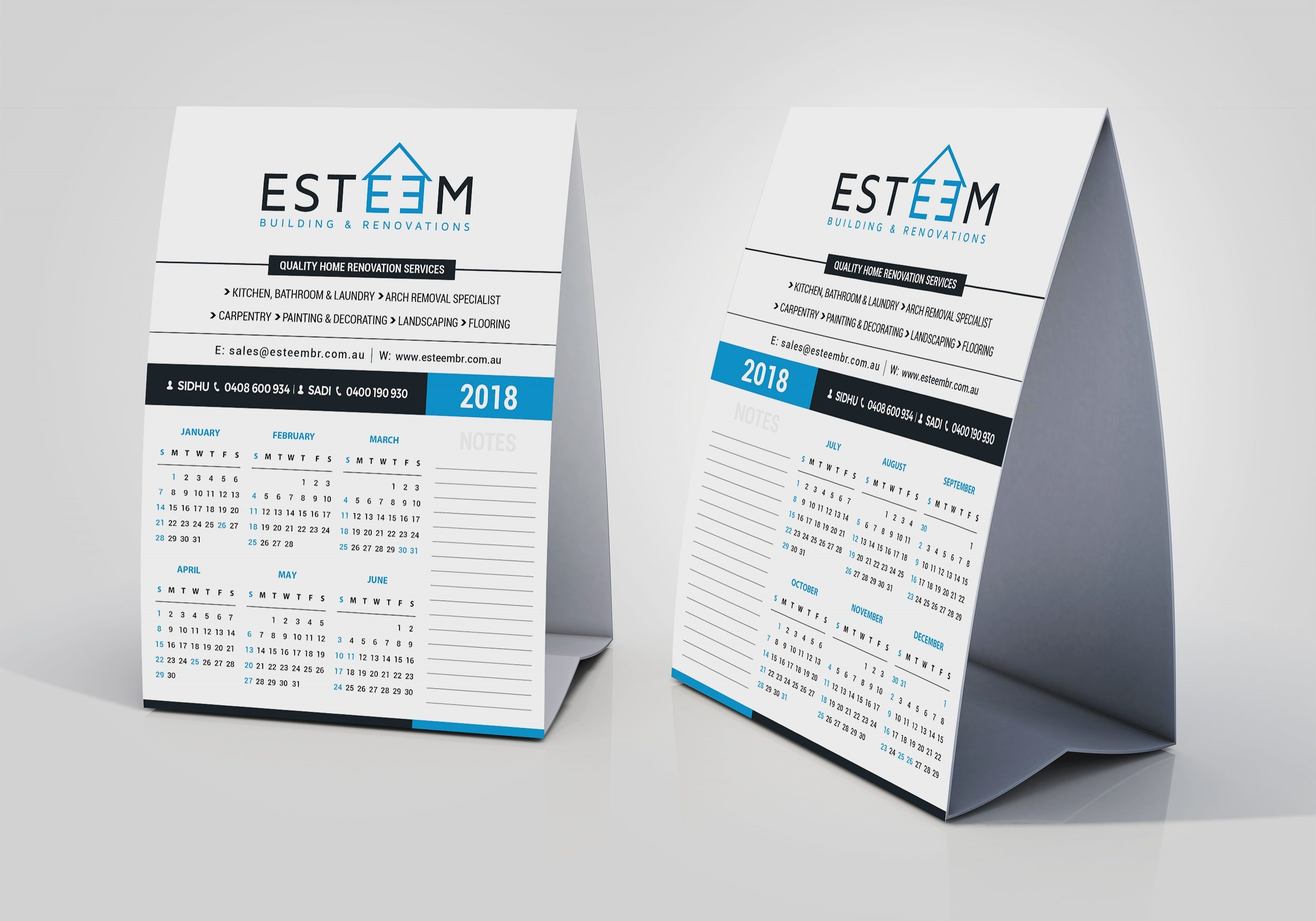 Esteem Table Calendar